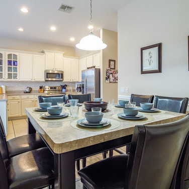 Breakfast nook with seating for 8