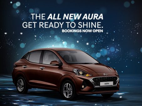 Get ready to shine with the all-new HYUNDAI AURA!