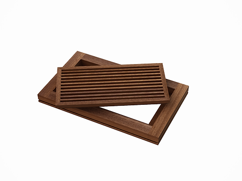 AB FLOOR GRILLE - MAHOGANY