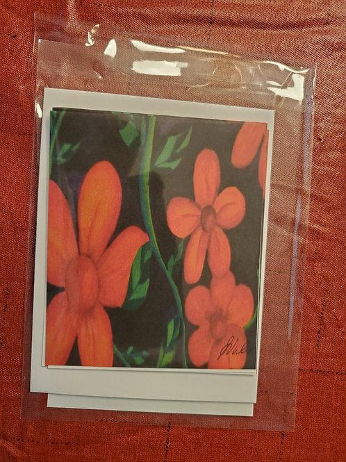 Orange Flowers Notecards