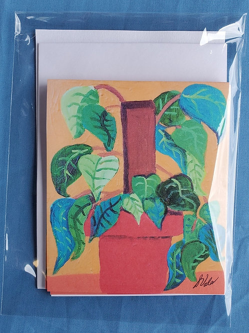 Red Pot Notecards