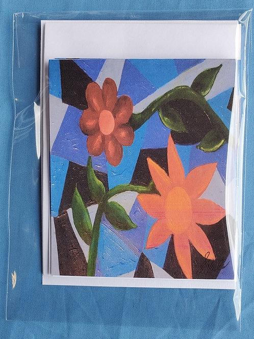 Blue Floral Notecards