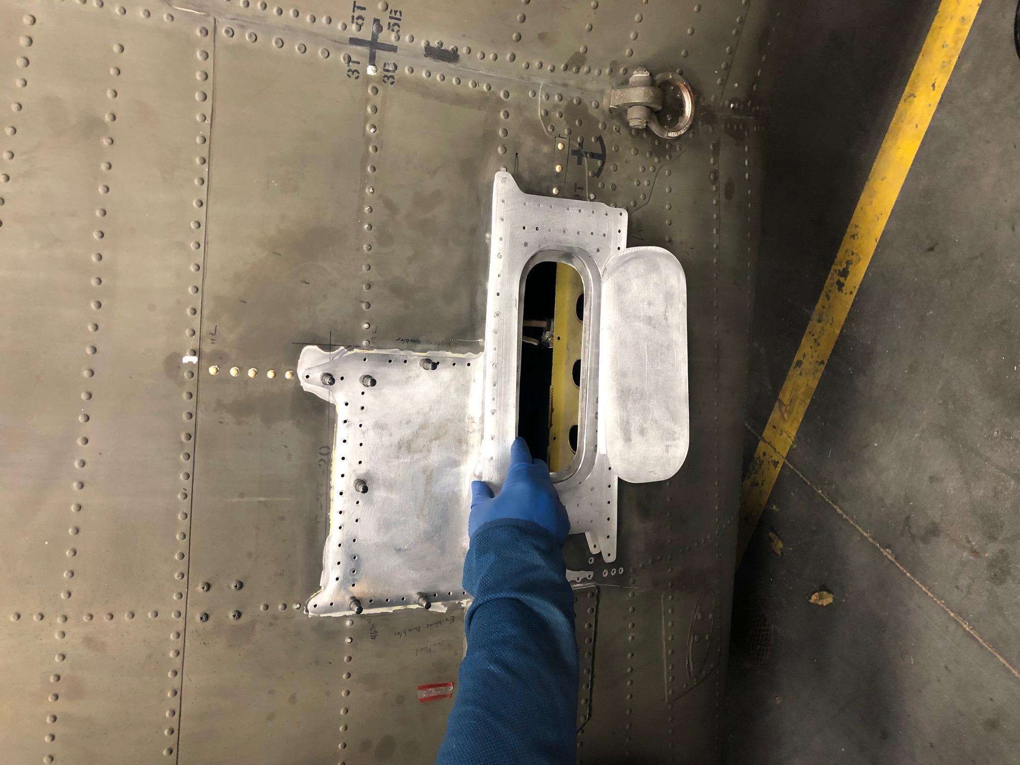 APU Hand pump and gauge relocation