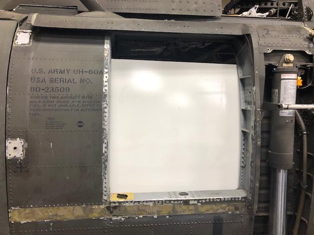 HH-60L Gunner's window installation
