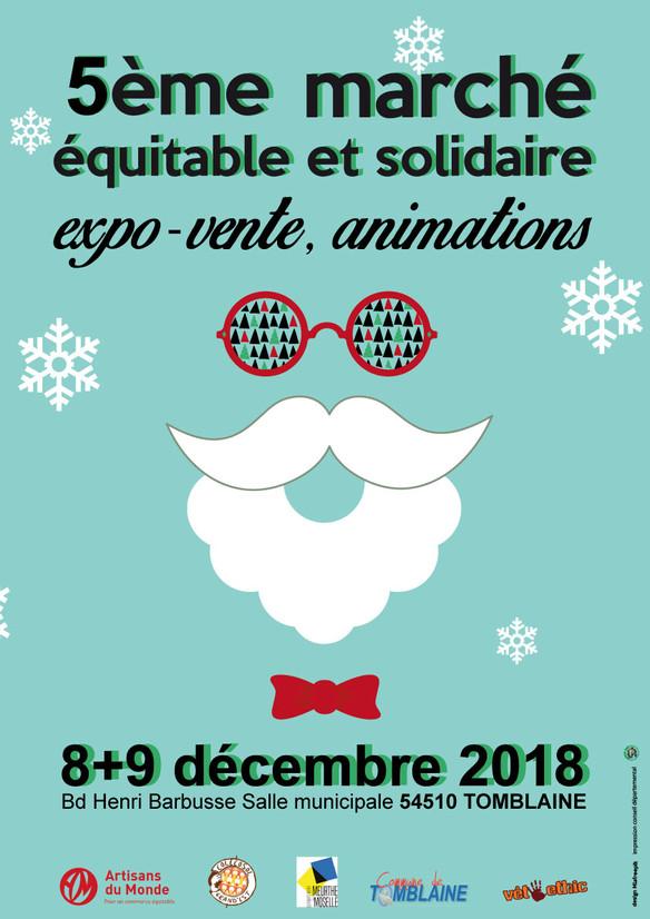 5ème marché équitable et solidaire le 8 et 9/12 à Tomblaine !!