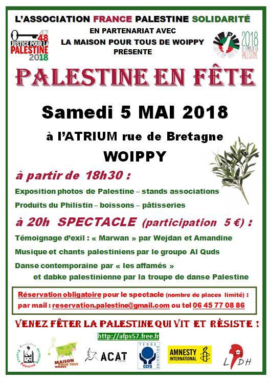 Venez fêter la Palestine qui vit et résiste !