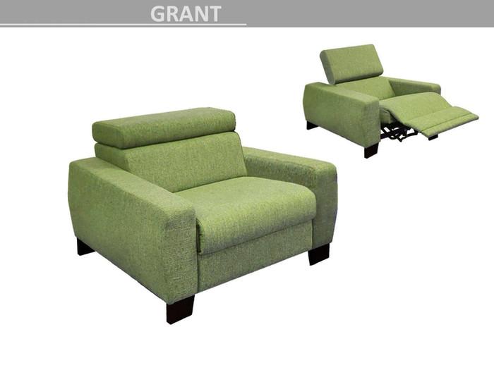 křeslo polohovací Grant - relax zelenkavá