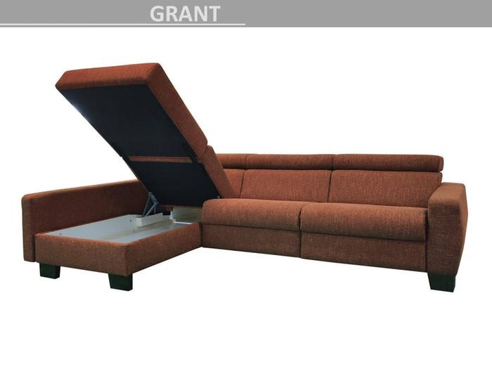 sedací souprava do L GRANT polohovací - relaxační