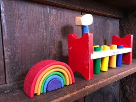 waldorf wooden rainbow toys