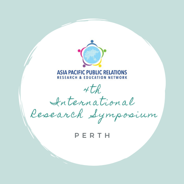 Asia-Pacific Public Relations Research and Education Network (APPRREN) 4th International Research Symposium