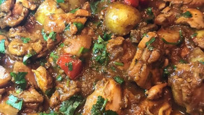 Chicken Curry With Potato And Red Peppers By R