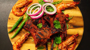 Fiery Lamb Cutlets & Jumbo King Prawns By Anthony Dumble