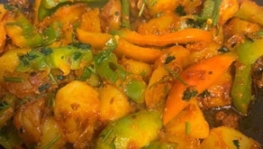 Potato And Green Pepper Curry By Shai Ayoub