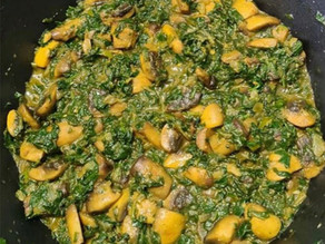 Spinach And Mushroom By Tracey Ramseebaluck