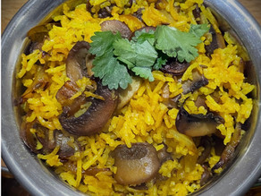 Mushroom And Onion Pilau Rice By Dave Watson