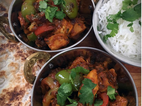 Chicken Balti Cooked In A Wok By Dave Watson