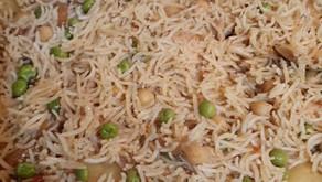 Chicken & Aloo Matar Pilau By Aurangzab Younis