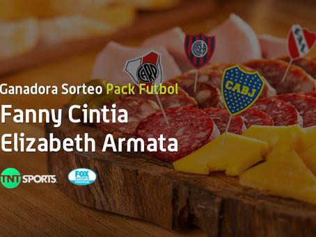¡La ganadora del Sorteo Pack Futbol es Fanny Cintia Elizabeth Armata!