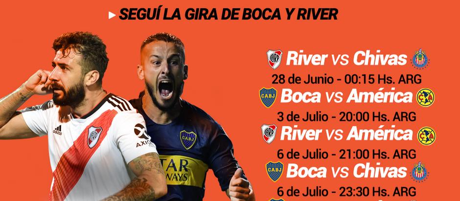 Contratá el Pack Fútbol y seguí la gira de Boca y River con CotecalTV.
