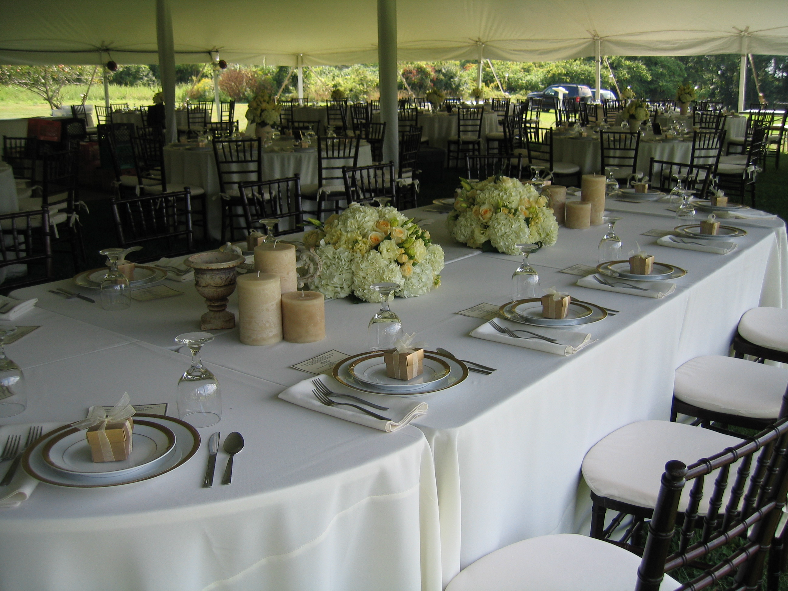 Summer Reception arrangements