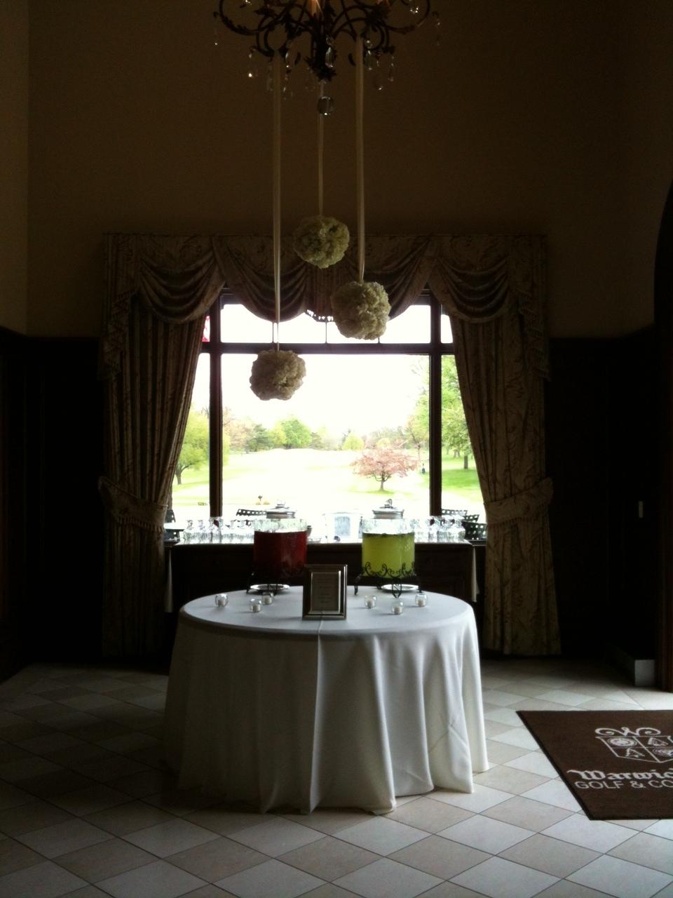 Hanging hydrangea balls