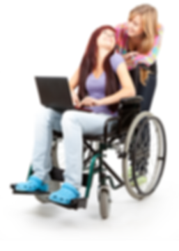 111invalid girl on the wheelchair with l