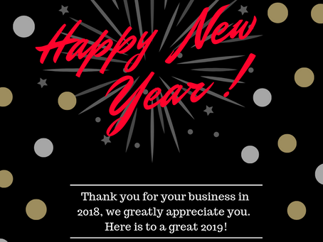 Have a safe and happy New Year!
