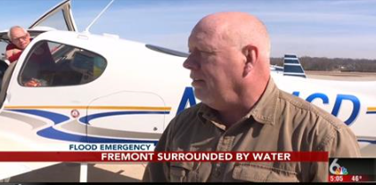 Our very own, Louis Olsen, took the opportunity to fly supplies to Fremont flood victims. So proud t