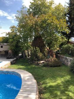 Rincón junto piscina