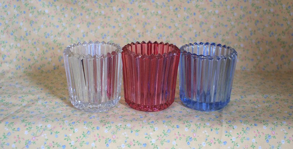 Ridged Vintage Glass