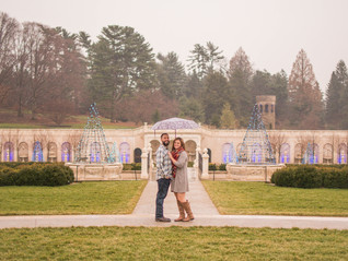 Katie and AJ's Longwood Gardens Engagement Session - Kennet Square, PA