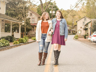 Logan and Abby's Autumn Senior Session - St. Peter's Village, PA
