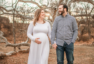 Emily and Grant's Winter Maternity Session - Valley Forge, PA