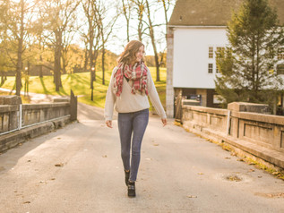 Maggie's Chilly Autumn Senior Session - Grings Mill, PA