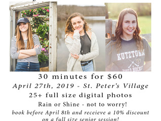 Announcing April 2019 Senior Mini-Session!