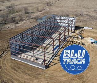 Blu Track Building Aerial View Side and