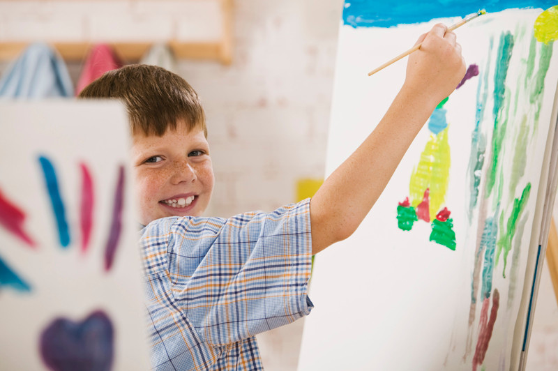Children's activities, child paining