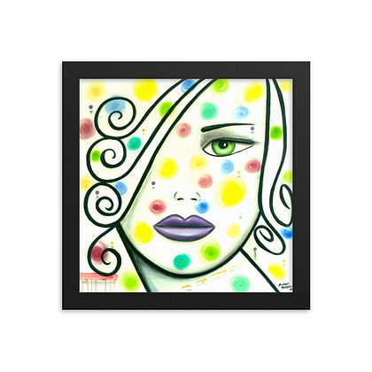 White Swirl by Michael Perez FRAMED