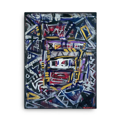 Behind The Mask V1 by Jason Perez CANVAS PRINT