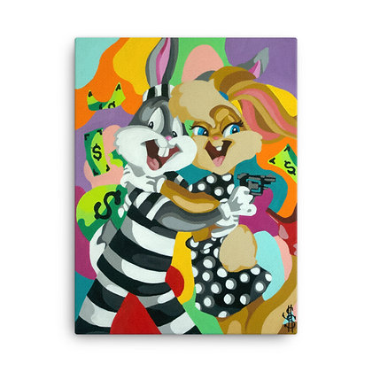 Bonnie & Clyde x Bugs Bunny by The Cash Monet CANVAS PRINT