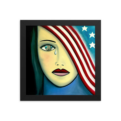 America The Beautiful by Michael Perez FRAMED