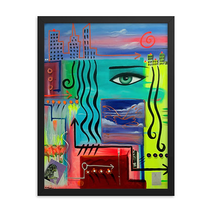 New York to Miami by Michael Perez FRAMED