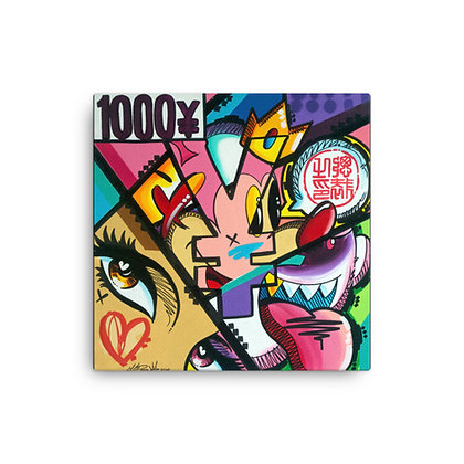 1000 Yin by King Redd CANVAS PRINT