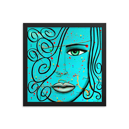 Blue Swirl by Michel Perez FRAMED