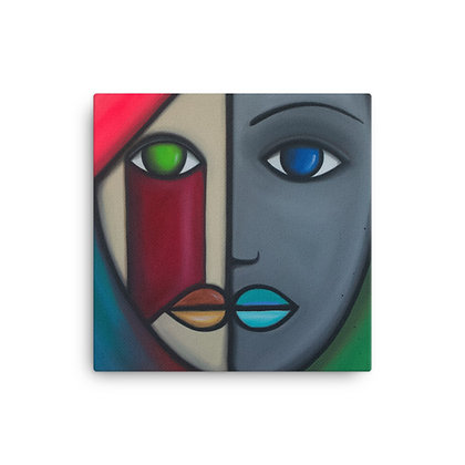 """Colorful Woman (As Seen on """"Friends"""" in 2001) by Michael Perez CANVAS PRINT"""