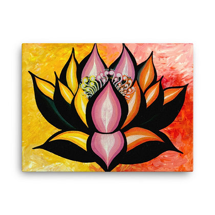 Yellow Lotus by Flower Bomb CANVAS PRINT