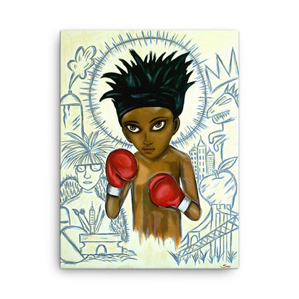 Baby Basquiat by Sarai CANVAS PRINT