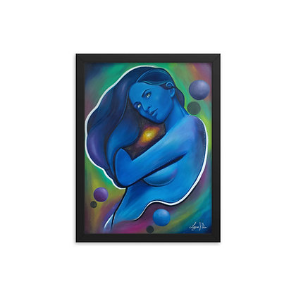 Galaxy Girl by Laz Rivera FRAMED