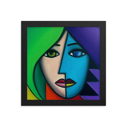 Blue Lady by Michael Perez FRAMED