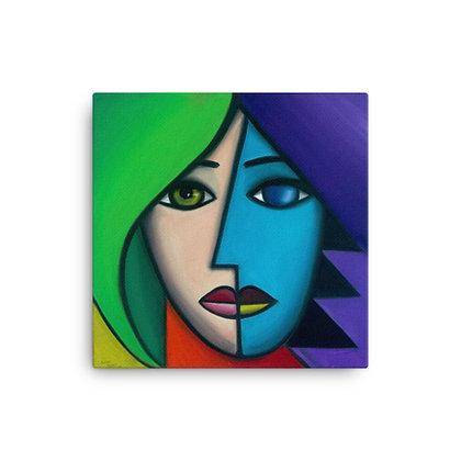 Blue Lady by Michael Perez CANVAS PRINT